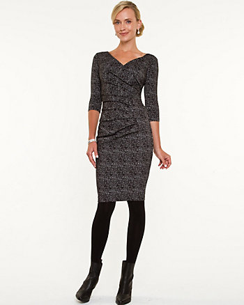 Tweed Wrap Dress