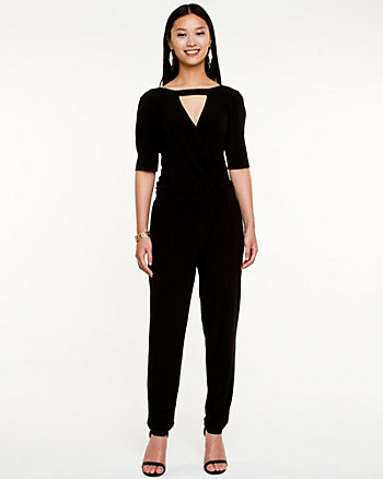 Matte Criss-Cross Jumpsuit