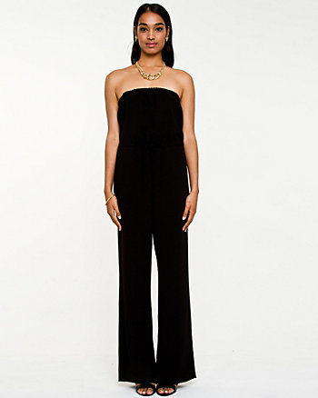 Stretch Crêpe Strapless Jumpsuit