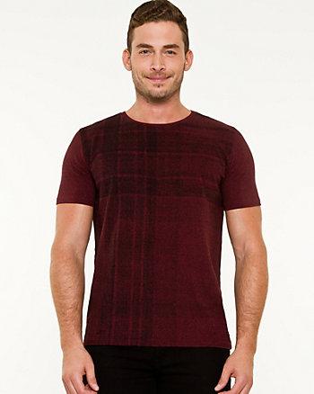 Check Print Crew Neck T-shirt