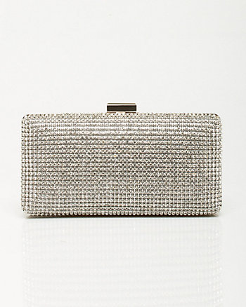 Jeweled Satin Minaudière