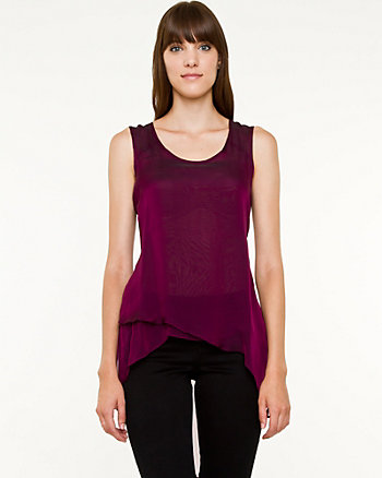 S/L SCOOP NECK MULTI LAYERS