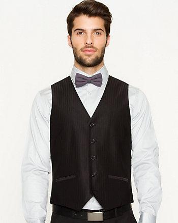 Tonal Cotton Blend Contemporary Fit Vest