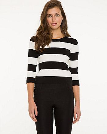 Stripe Viscose Blend Sweater
