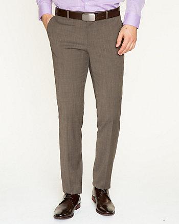 Wool Blend Slim Leg Pant