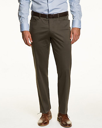 Stretch Cotton Sateen Slim Fit Pant