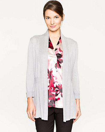 Viscose Open-front Cardigan