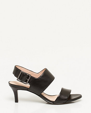 Leather Double Band Slingback