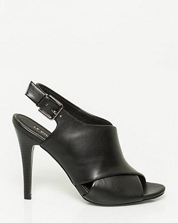 Leather-Like Criss-Cross Slingback