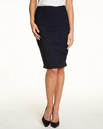 Viscose Blend High Waist Pencil Skirt