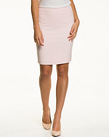 Crêpe High-Waisted Pencil Skirt