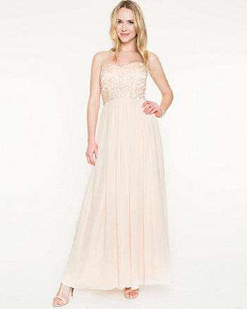 Beaded Chiffon Sweetheart Gown