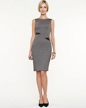 Houndstooth Fitted Dress
