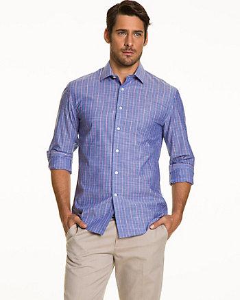 Stripe Cotton Slub Tailored Shirt