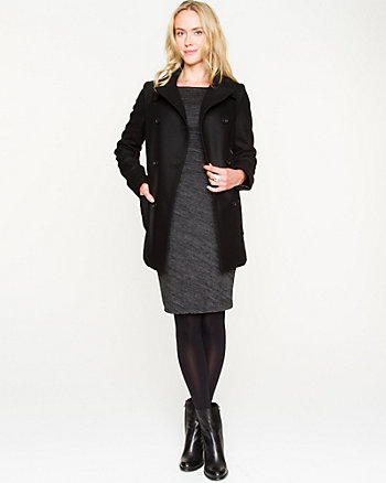 Melton Double-breasted Peacoat