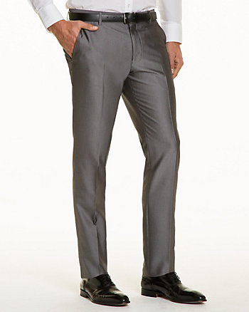Shiny Herringbone Slim Leg Pant