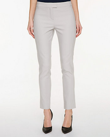 Cotton Blend Slim Leg Ankle Pant