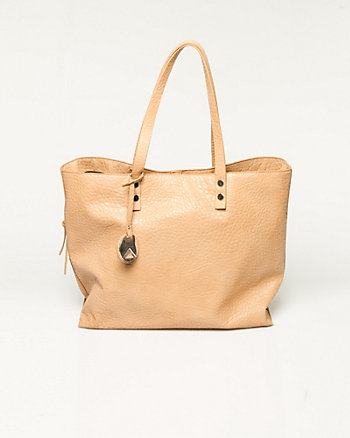Elephant Embossed Leather-Like Tote
