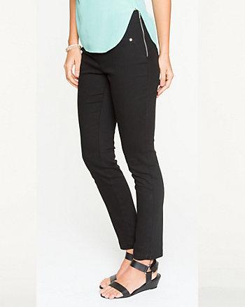 Cotton Twill Slim Leg Crop Pant