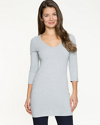 Essential Cotton Jersey 3/4 Sleeve Tunic