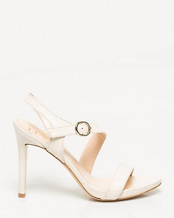 Italian-Made Leather Asymmetrical Sandal