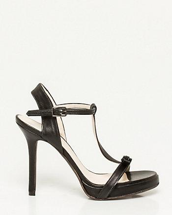 Italian-Made Leather T-Strap Sandal