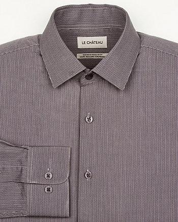 Stripe Cotton Euro Fit Shirt