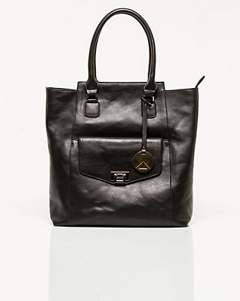 Leather-Like Tote