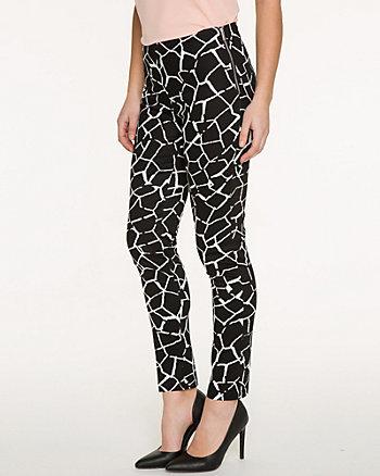 Giraffe Print Cotton Skinny Leg Pant
