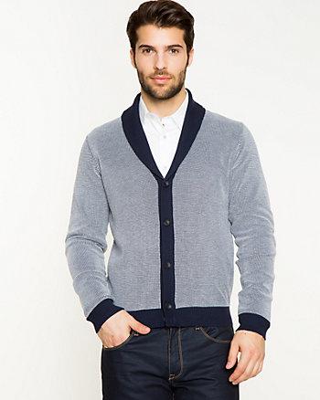 Knit Shawl Collar Cardigan