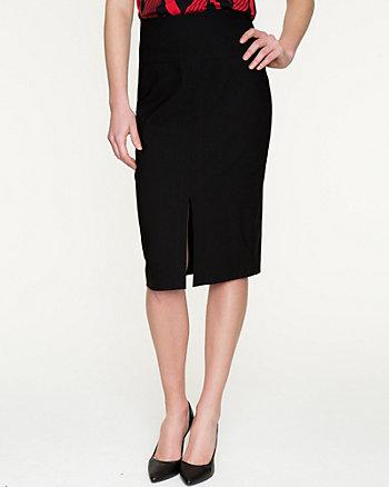 Stretch Woven High Waist Pencil Skirt