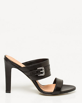 Leather Double Band Mule