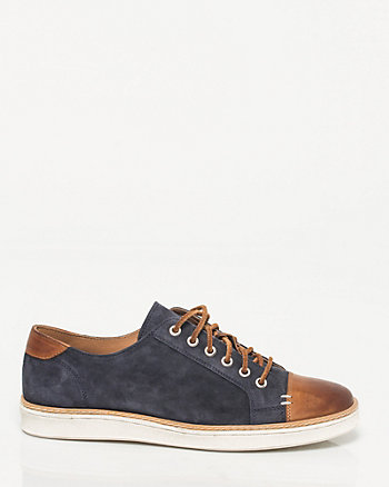 Suede & Leather Cap Toe Sneaker
