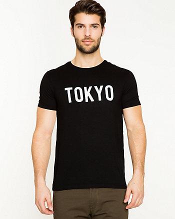 Placement Print Viscose Blend T-Shirt