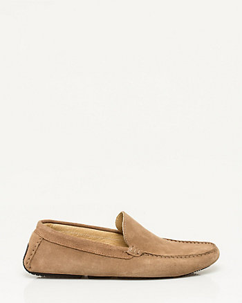Italian-Made Suede Square Toe Loafer