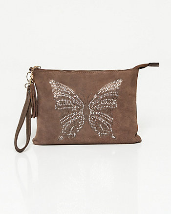 Leather & Leather-Like Butterfly Pouch