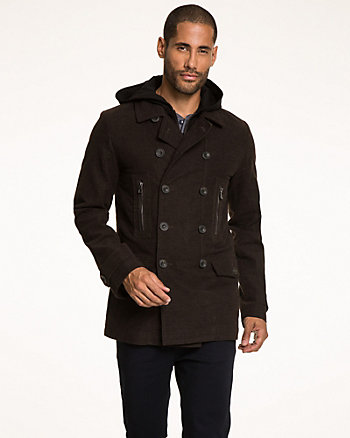 Cotton Moleskin Combo Coat