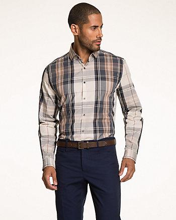 Check Print Cotton Shirt