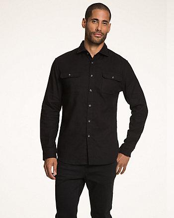 Cotton Piqué Tailored Fit Shirt