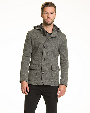 Wool Blend Hooded Combo Coat