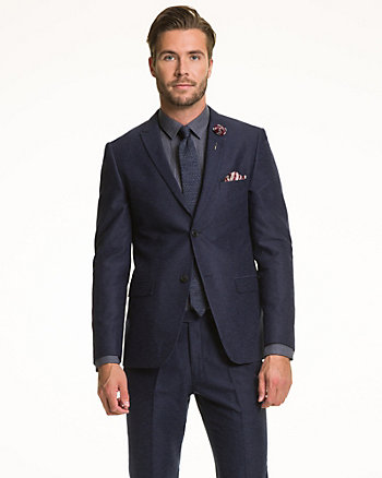Tonal Woven Contemporary Fit Blazer