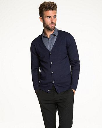Rayon Blend V-Neck Sweater