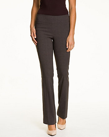 Glen Check Stretch Woven Flare Leg Pant