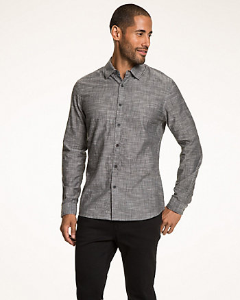 Slub Cotton Tailored Fit Shirt