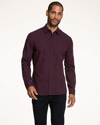 Slub Cotton Tailored Fit Shirt