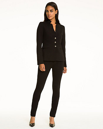 Ponte Raised Collar Blazer