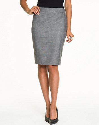 Glencheck Viscose Blend Skirt