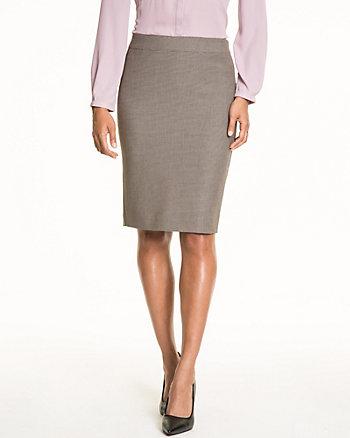 Woven Pencil Skirt