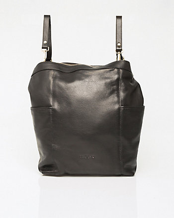 Leather Convertible Back Pack