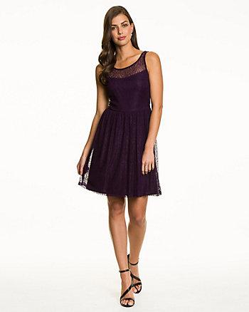 Knit Lace Illusion Dress